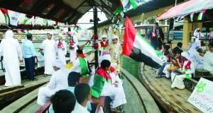مدرسة أحمد بن راشد تنظم مسيرة بحرية لطلابها