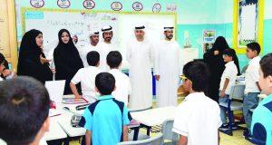 مكتب شؤون أسر الشهداء يتفقد أبناء شهداء الوطن في مدارس الدولة