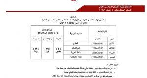 انطلاق امتحانات الفصل الأول في 7 ديسمبر و تنتهي 15 الشهر