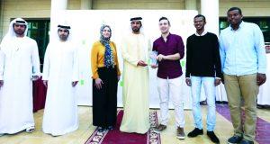تكريم طلبة الهندسة في احتفال جائزة عجمان للزراعة