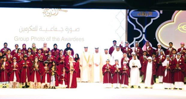 نائب حاكم الشارقة يكرّم الفائزين بجائزة التفوق التربوي