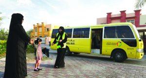 5456 حافلة مدرسية تنقل الطلبة خلال الفصل الثالث