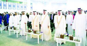 سعود بن صقر وهزاع بن زايد يشهدان تخريج 165 طالباً في جامعة نيويورك أبوظبي