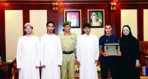 عبدالله المري يستقبل موهوبي مدرسة دبي الوطنية