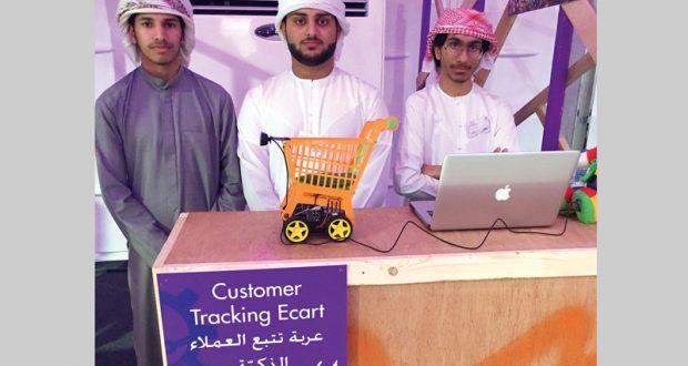 3 طلاب مواطنين يبتكرون عربة تسوّق ذكية