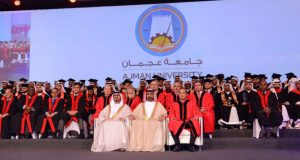 عمار النعيمي يشهد حفل تخريج 163 طالباً في جامعة عجمان