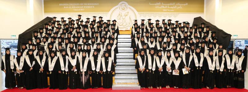 قرينة حاكم رأس الخيمة تشهد تخريج 426 طالبة من كليات التقنية