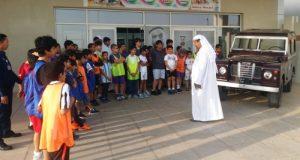طلبة المراكز الصيفية يتعرفون على مراحل تطور شرطة أبوظبي